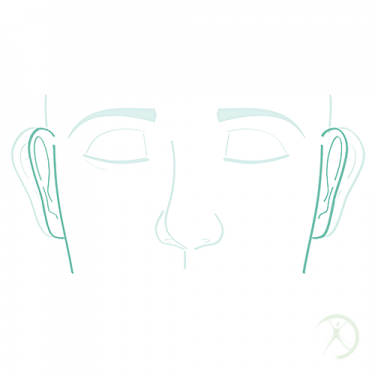 Ilustração: Correção de orelhas de abano - Contorno Facial - Cirurgia Estética - Autor: Dr. Fernando Rodrigues