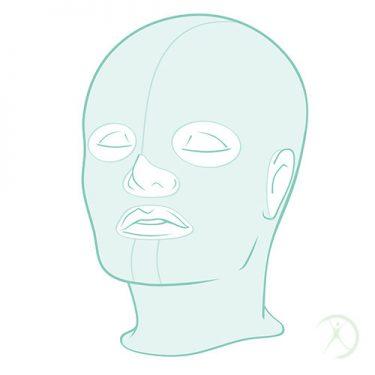 Ilustração: Tratamento de queimaduras - Cabeça e Pescoço - Cirurgia Reconstrutora - Autor: Dr. Fernando Rodrigues